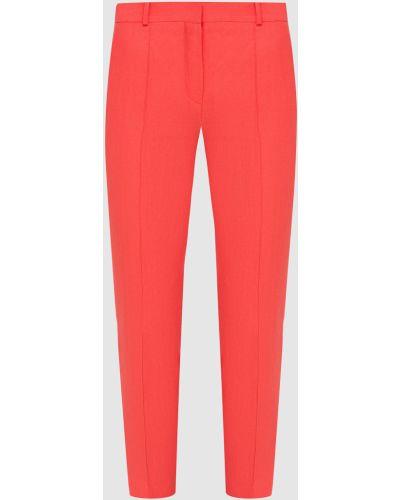 Красные льняные укороченные брюки Loro Piana