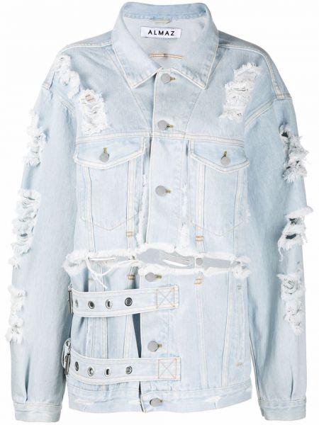 Синяя куртка классическая Almaz