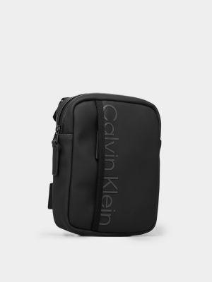 Черная сумка мессенджер Calvin Klein