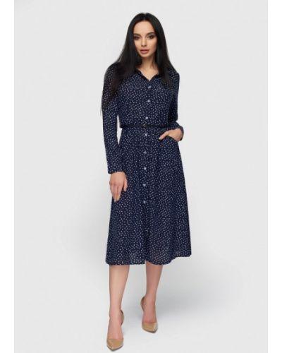 Платье весеннее синее 0101 Brand