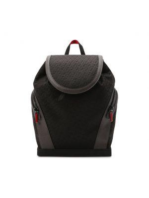 Черный текстильный рюкзак Christian Louboutin
