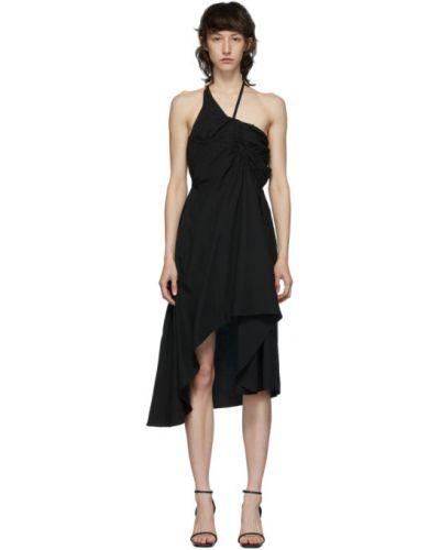 Черное платье без рукавов с чашками Vejas