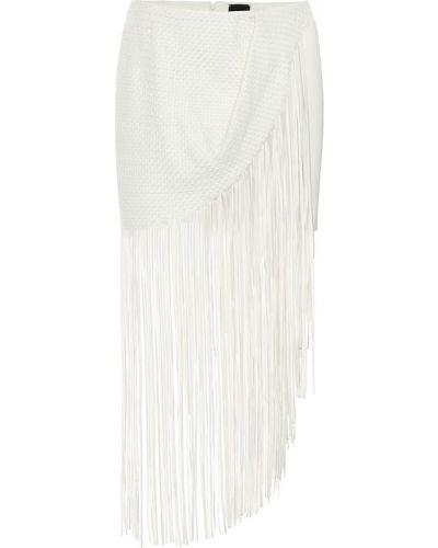 Кожаная юбка макси белая Magda Butrym