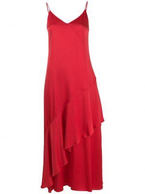 Платье с V-образным вырезом - красное Mulberry