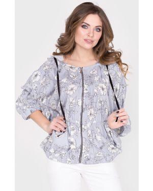 Повседневная с рукавами блузка из штапеля Filigrana