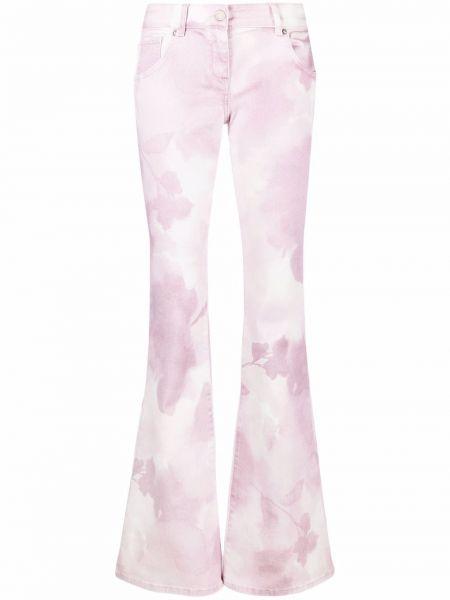 Розовые джинсы с принтом Blumarine