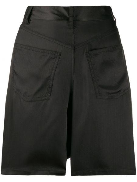 Однобортные черные шорты с карманами A.f.vandevorst