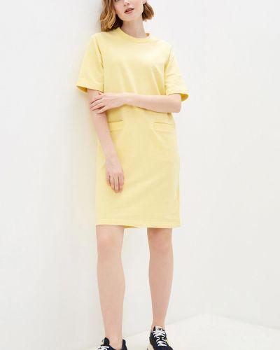 Желтое трикотажное платье с карманами с рукавом реглан Baon