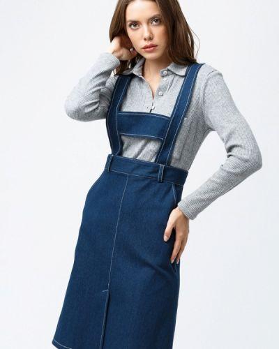 Джинсовая юбка синяя Evercode