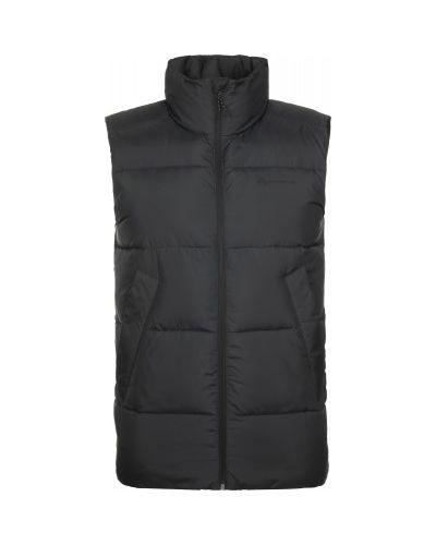 Прямая черная жилетка с капюшоном Outventure