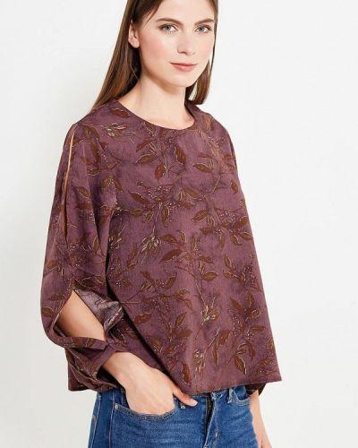 Блузка с длинным рукавом бордовый красная Pettli Collection