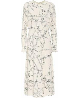 Платье миди из вискозы зимнее Victoria Beckham