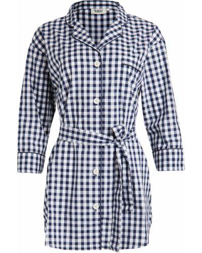 Платье-рубашка с поясом оверсайз с декольте Sleepy Jones