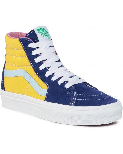 Miejski skórzany żółty skórzane sneakersy Vans