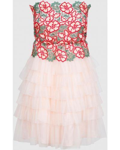 Розовое кружевное платье мини Tresophie