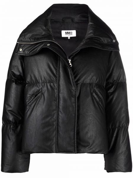 Дутая куртка - черная Mm6 Maison Margiela