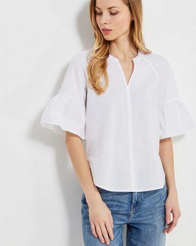 Белая блузка с рюшами Tommy Hilfiger