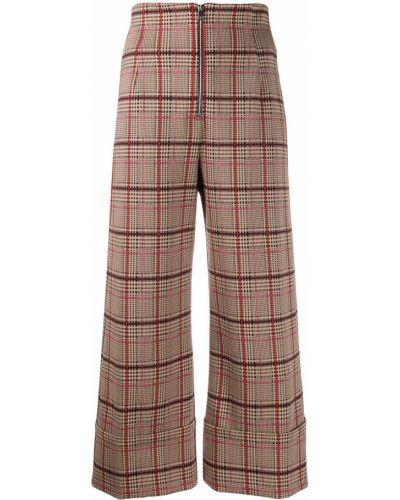 Свободные брюки в клетку брюки-хулиганы Pinko