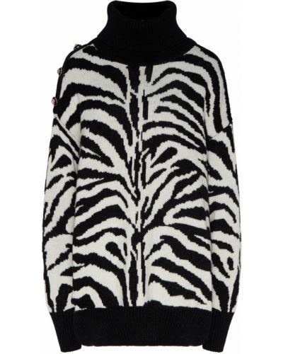 С рукавами белый длинный свитер с воротником Maison Bohemique