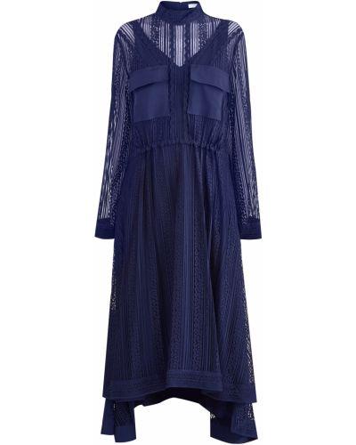 Платье миди платье-комбинация из вискозы Chloé