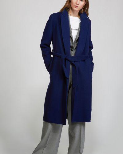 Шерстяное пальто - синее Vassa&co