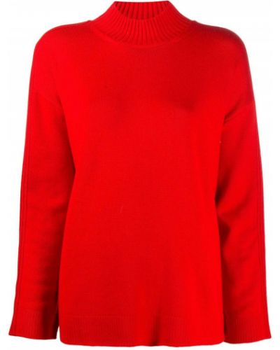 Красный шерстяной вязаный длинный свитер Monse