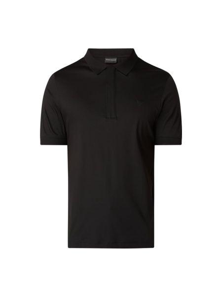 Czarna koszulka bawełniana Emporio Armani