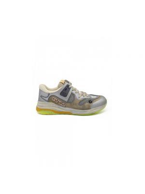 Beżowe sneakersy srebrne Gucci