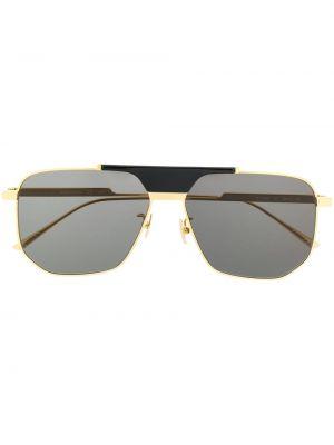 Солнцезащитные очки хаки с завязками Bottega Veneta Eyewear