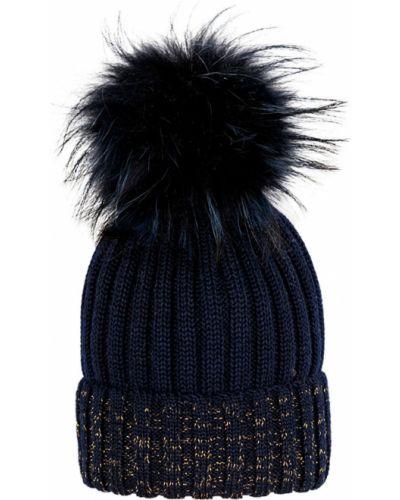 Зимняя шапка с отворотом с помпоном Giamo