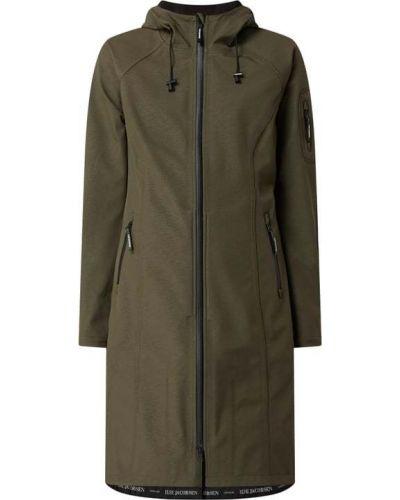 Zielony płaszcz softshell Ilse Jacobsen