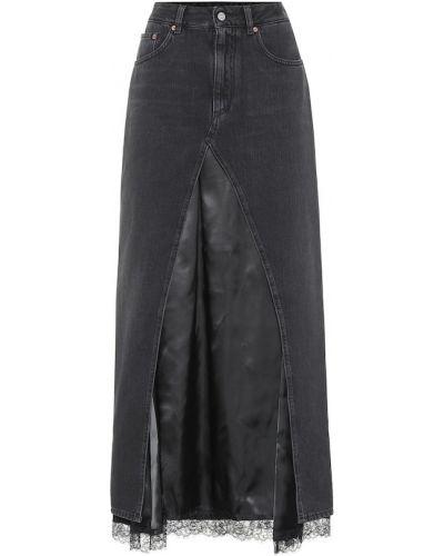 Юбка миди джинсовая пачка Mm6 Maison Margiela