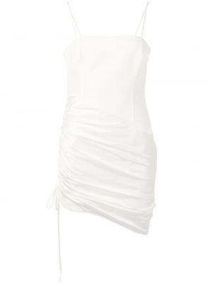 Белое платье мини с оборками с вырезом Cinq À Sept
