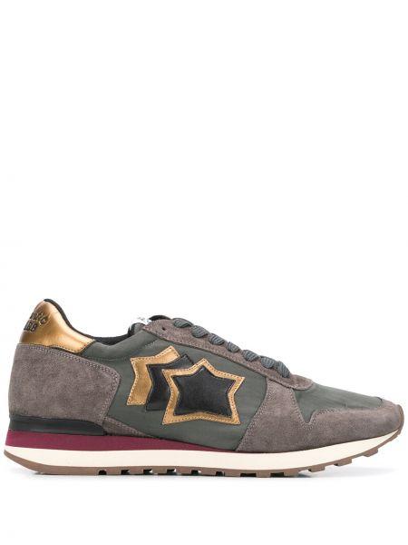 Skórzane sneakersy z logo sznurowane Atlantic Stars