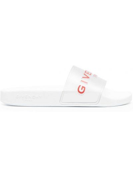 Otwarty biały klapki otwarty palec u nogi Givenchy