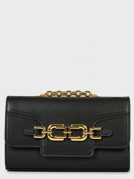 Кожаная сумка - черная Elisabetta Franchi