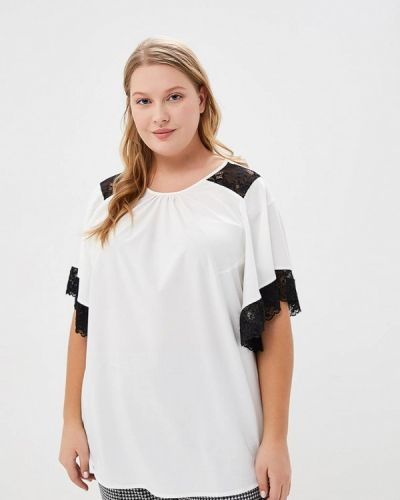 Блузка с коротким рукавом белая Jp