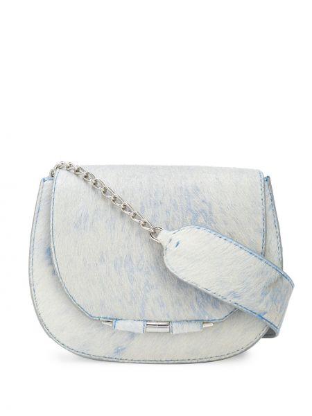 Синяя маленькая сумка металлическая на молнии с карманами Tyler Ellis