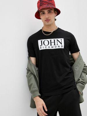 Черная футболка John Richmond