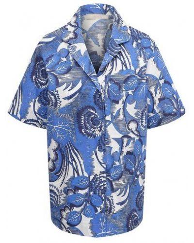Хлопковая рубашка - синяя Tak.ori