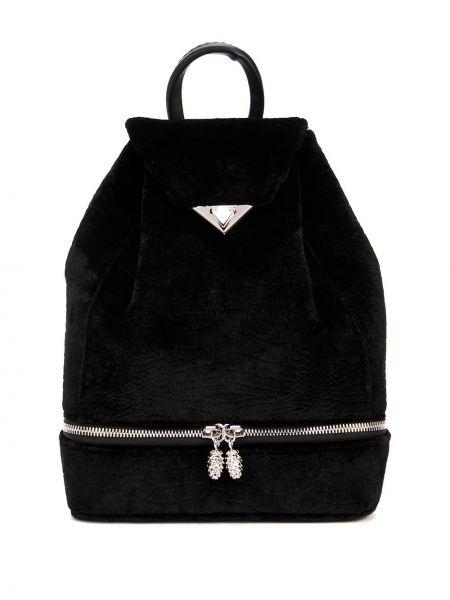 Шелковая черная сумка на шнурках на бретелях Tyler Ellis