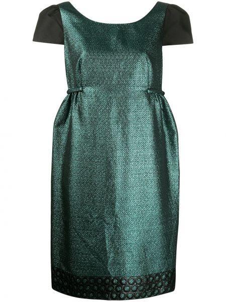 Платье мини с вырезом металлическое с короткими рукавами со вставками Moschino Pre-owned
