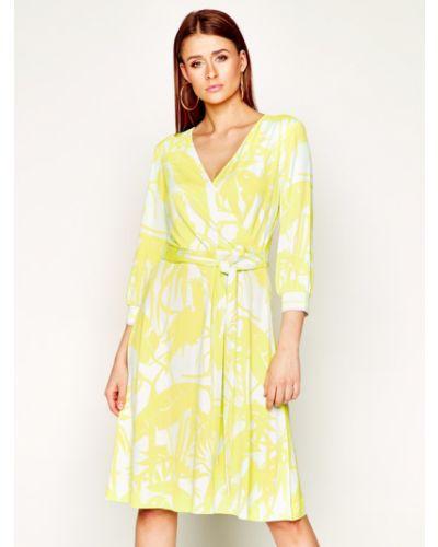 Żółta sukienka casual Laurel