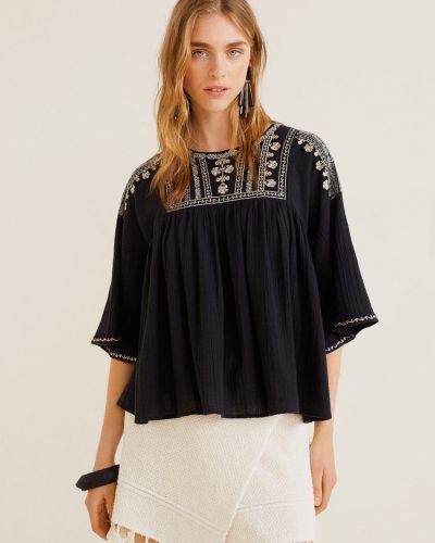 Блузка с вышивкой прямая Mango