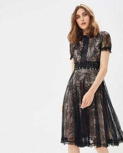 Черное платье весеннее Lusio