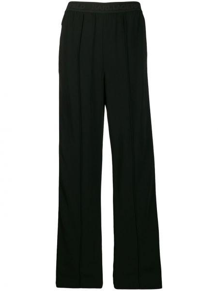 Свободные брюки со складками с поясом Karl Lagerfeld