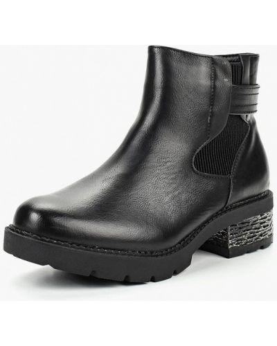 Кожаные ботинки осенние на каблуке Vera Blum