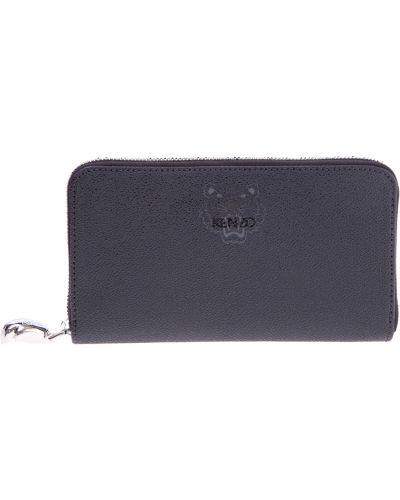 Кожаный кошелек для монет лаковый Kenzo