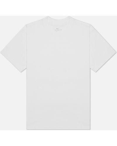 Белая прямая футболка Nike Sb