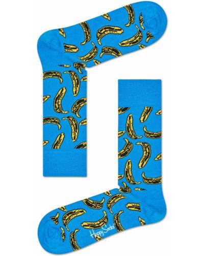 Колготки хлопковые с узором Happy Socks